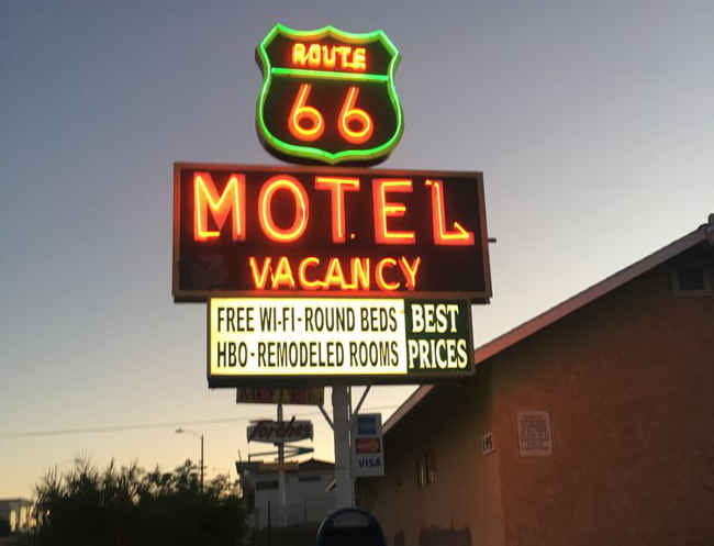 barstow route 66 motel hollywood tour from las vegas