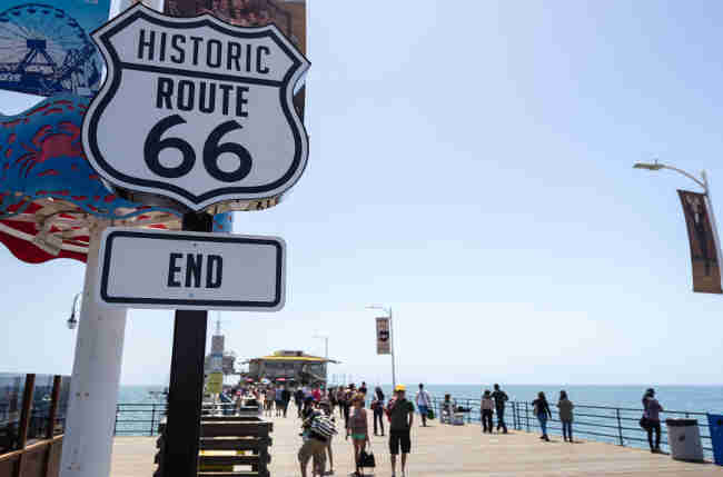 santa monica pier end of route 66